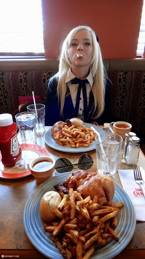 time for lunch at swiss chalet in Toronto, Ontario, Canada