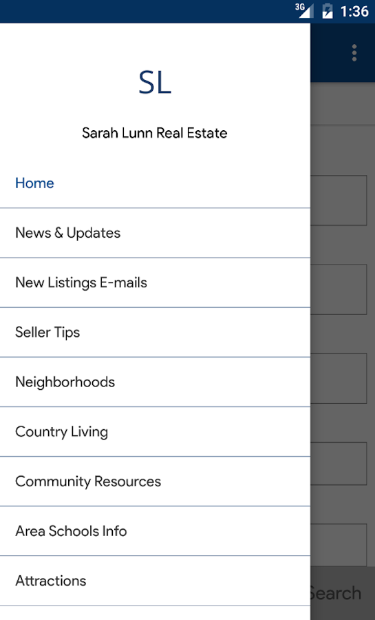 Sarah Lunn Real Estate- screenshot