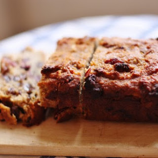 Almond and Chickpea Bread with Dried Fruit.