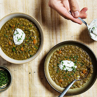 Lentil Soup with Herbed Yogurt