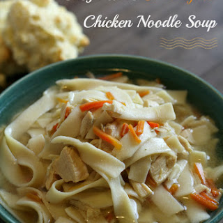 Busy Mom's Slow Cooker Chicken Noodle Soup {Gluten-free}.