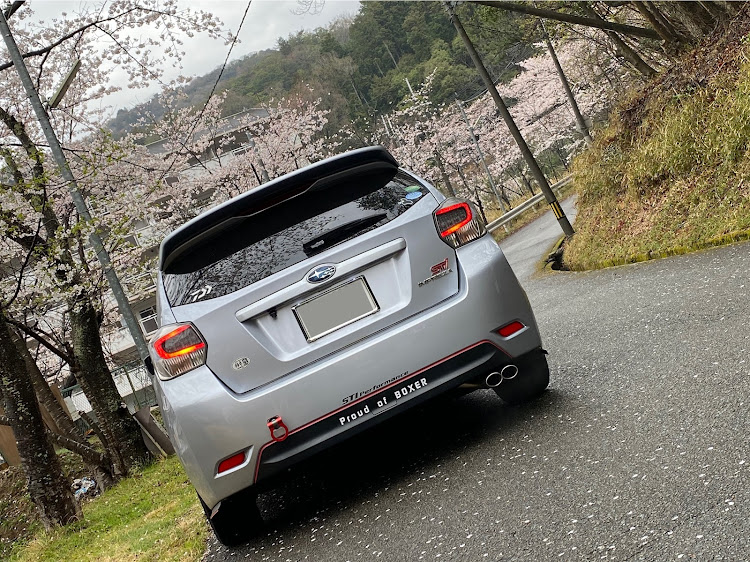 インプレッサ スポーツ GP6の桜と愛車,愛車紹介,花見に関するカスタム&メンテナンスの投稿画像2枚目