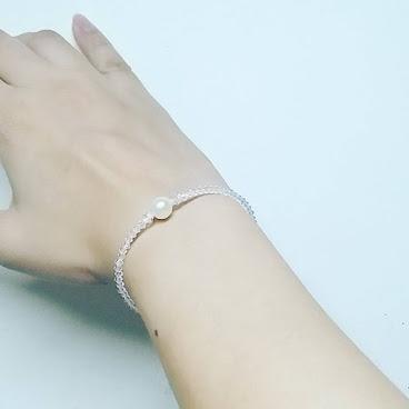 [本土手作] 日本Akoya海水中珍珠配Swarovski純銀手鏈 AKOYA Pearls Bracelet