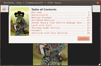 Photo: Table of Contents Dialog