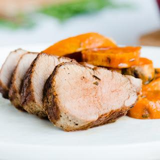 Five Spice Pork Tenderloin with Honey Glazed Yams.