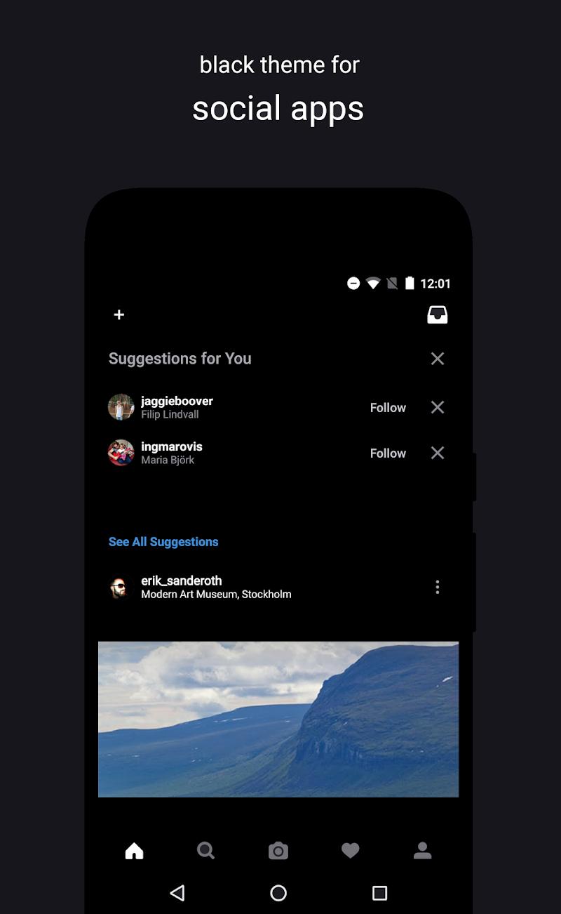Swift Black Substratum Theme +Oreo & Samsung theme Screenshot 2