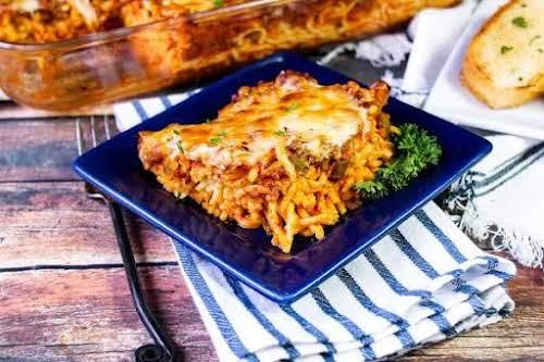 "Baked Cream Cheese Spaghetti ""Cream cheese and spaghetti. Wow! One of my..."