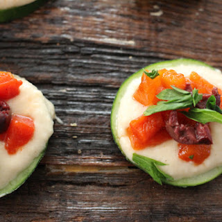 Greek Cucumber Hummus Bites