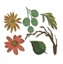 Tim Holtz Sizzix Thinlits Die Set 6PK - Funky Floral Large 19-01
