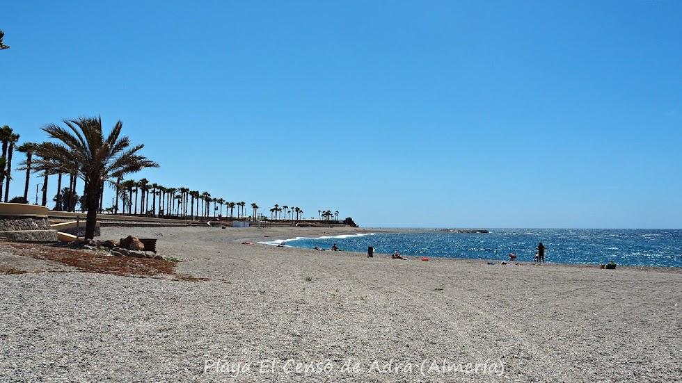 Playa El Censo, en Adra.
