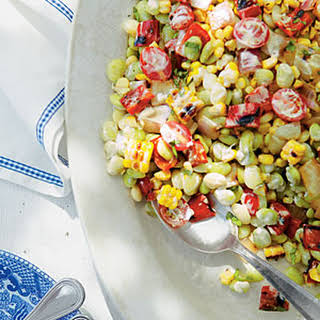 Grilled Corn-and-Butter Bean Salad.