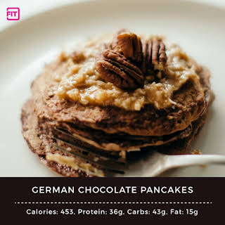 German Chocolate Pancakes.