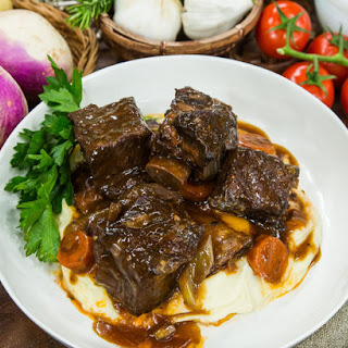 Cabernet Braised Short Ribs with Parsnip-Turnip Puree Recipe