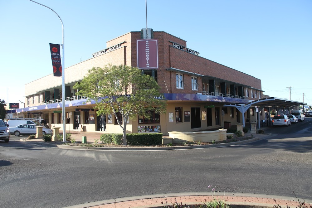 The Tourist Hotel, built in 1938 and now being returned to its original art deco configuration.