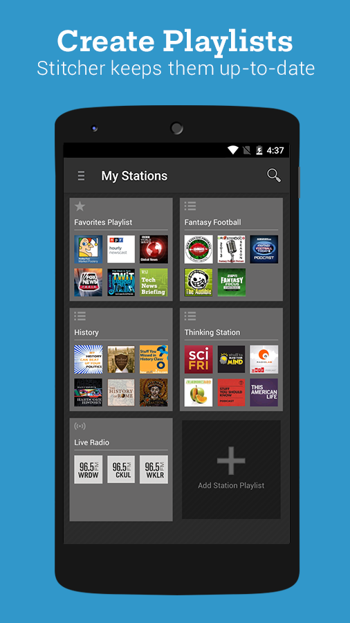 Stitcher Radio for Podcasts- screenshot