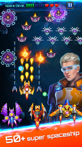 Space attack - infinity air force shooting screenshot 7
