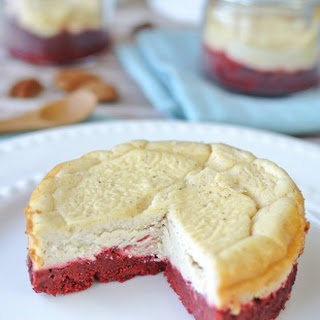 Red Velvet Cinnamon Cheesecakes.