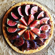 Photo: Fig, goats cheese, red onion tart