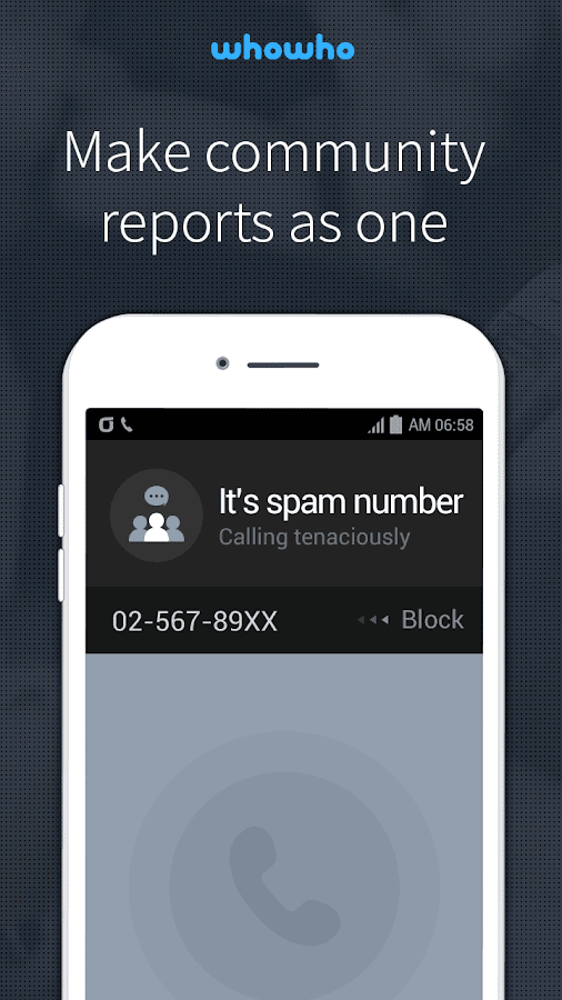 whowho - Caller ID & Block- screenshot