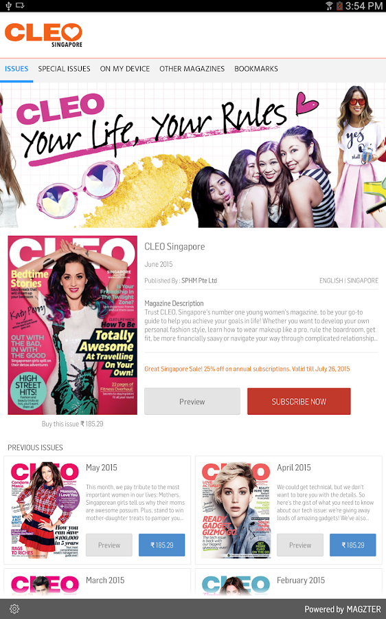 CLEO Singapore- screenshot