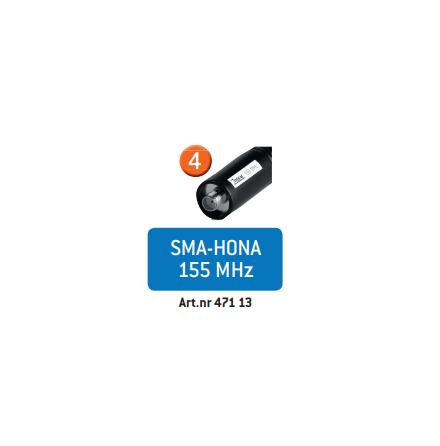 Zodiac Skogsantenn HQ 155 MHz SMA