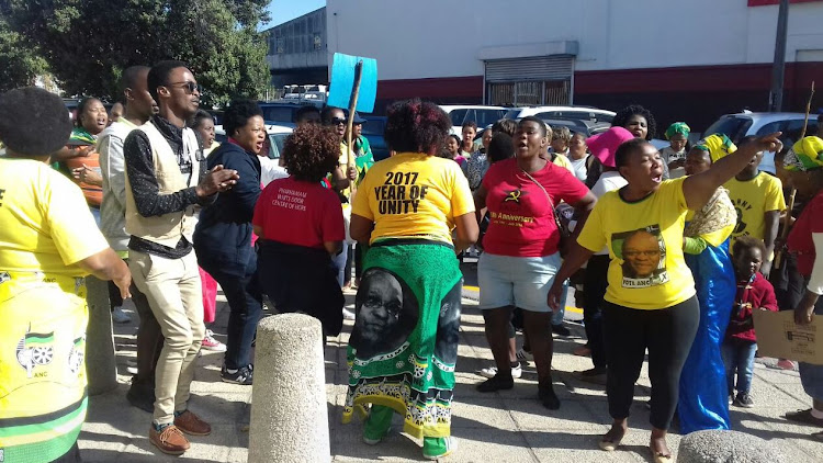 Supporters and the ANC Women's league gathered outside court ahead of the Pastor Omotoso's bail application. The pastor has been denied bail.