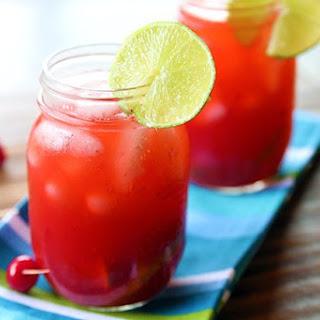 Cherry & Raspberry Bourbon Lemonade.