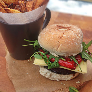 Mushroom and Red Pepper Burger