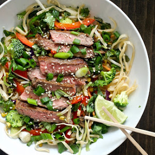 Thai Noodle Steak Salad