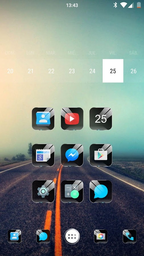 Black Glass NOVA/APEX/ADW HD- screenshot