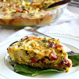 Brussels, Sausage & Bacon Quiche with Sweet Potato Crust Recipe