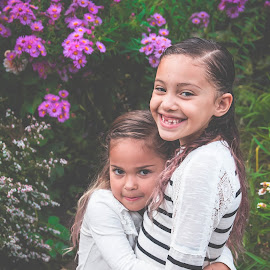 Alani and Raylee by Jenny Hammer - Babies & Children Children Candids ( girls, sisters, hug, siblings, cute )