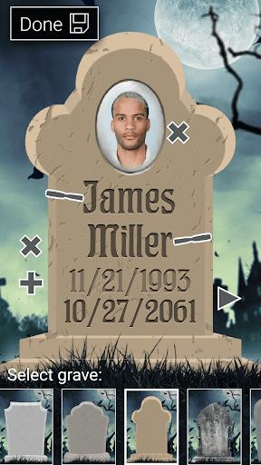 Death Date Calculator & Grave Editor App Report on Mobile