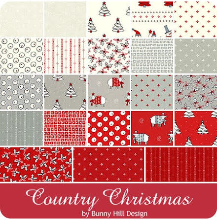 Charm Pack Country Christmas by Bunny Hill Studio (16313)