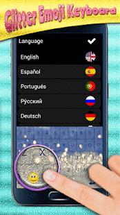 Glitter Emoji Keyboard - náhled