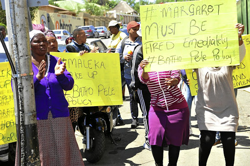 Angry residents of Rosettenville in Johannesburg protest outside the South Rand Hospital over alleged ill-treatment by abusive staff.