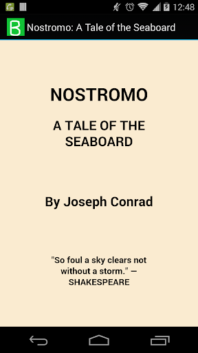 Nostromo: Tale of the Seaboard