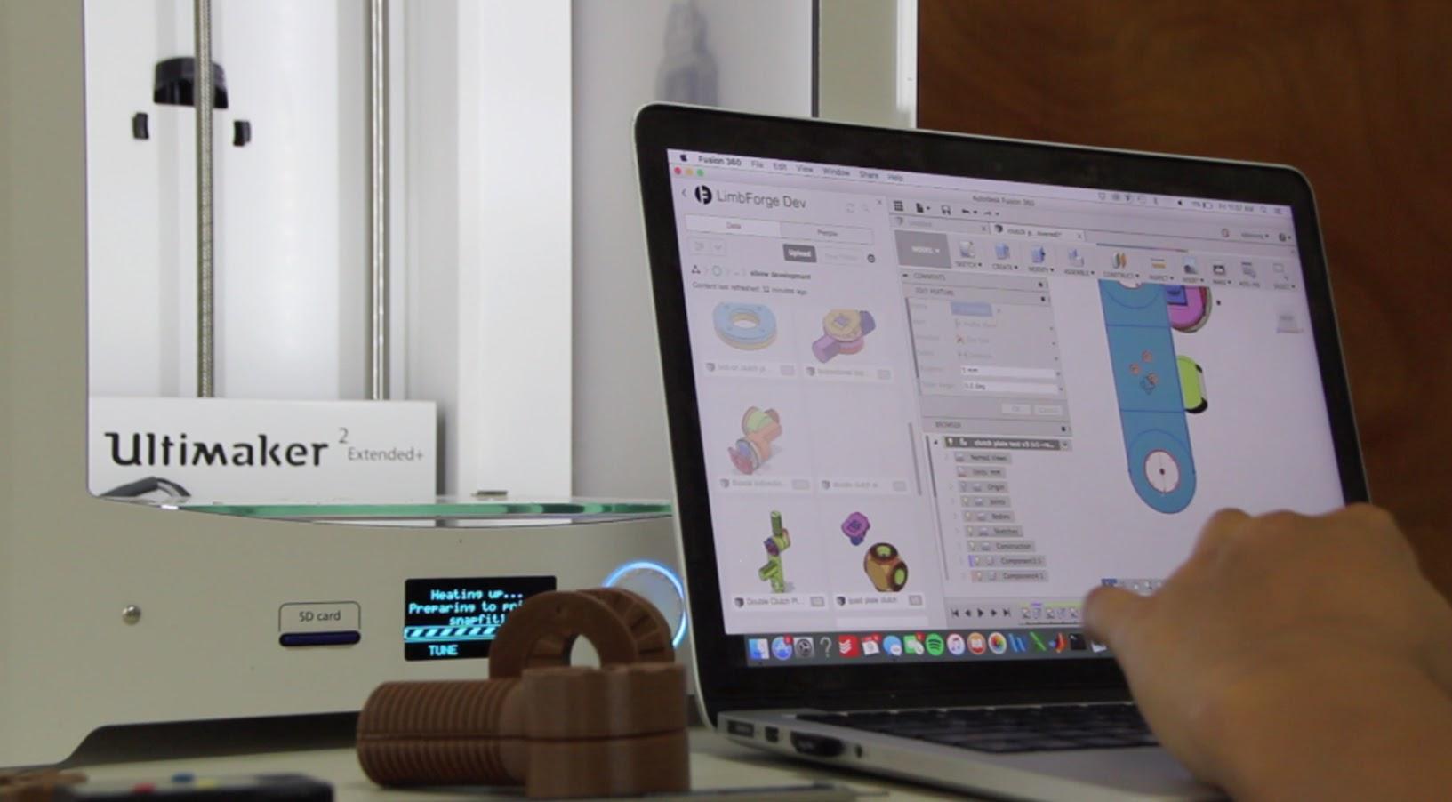 Программное обеспечение LimbForge было разработано для того, чтобы связать процесс создания протезной конечности с проектированием посредством трехмерной печати. Предоставлено LimbForge.