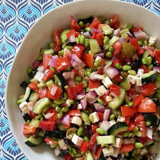 Greek Edamame Salad.
