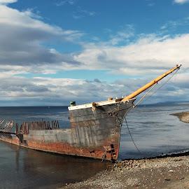 Shipwreck by Tomasz Budziak - Transportation Boats ( chile, boats, transportation )