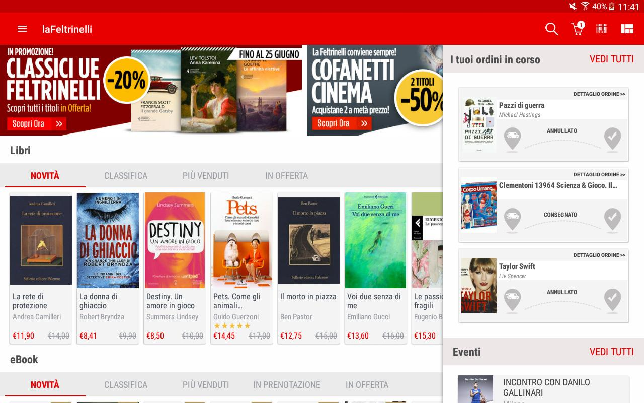 la Feltrinelli mobile- screenshot