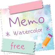 Sticky Memo Notepad *Watercolor* Free