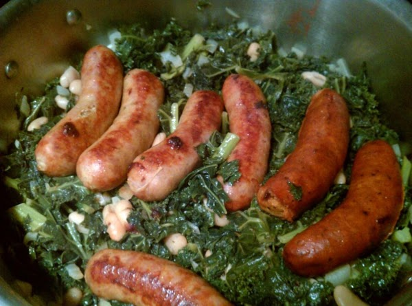 Sausages With Kale And White Beans Recipe