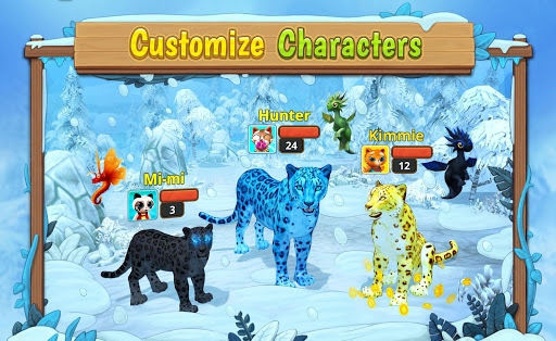 Snow Leopard Family Sim Online apkpoly screenshots 14