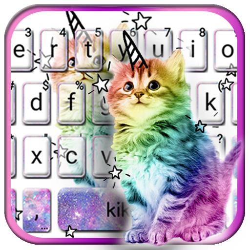 Colorful Cat Keyboard Theme Icon