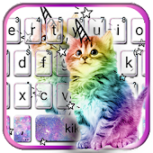 Colorful Cat Keyboard Theme