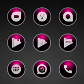 Glossy Pink Icons