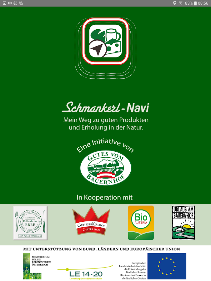 Schmankerl-Navi- screenshot