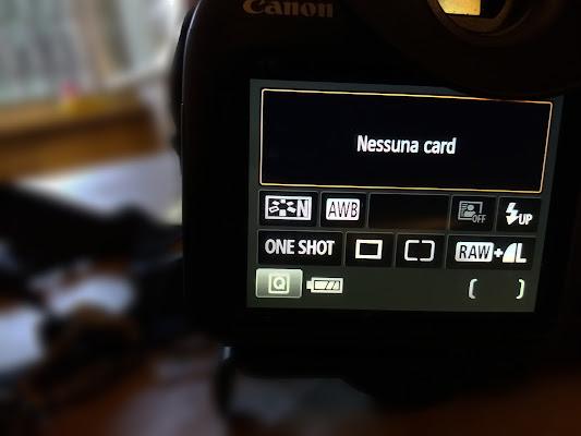 No Card ... No foto ! di FZATOX