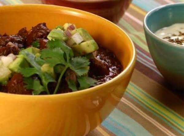 Black Bean & Brown Rice Chili (vegetarian)